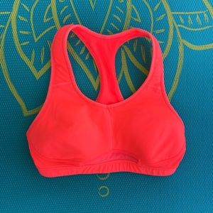 Athleta orange sports bra